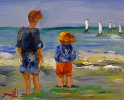 Art: Watching the Sailboats-sold by Artist Delilah Smith