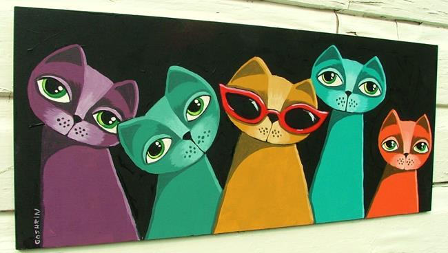 Art: Coolest Cats by Artist Cindy Bontempo (GOSHRIN)