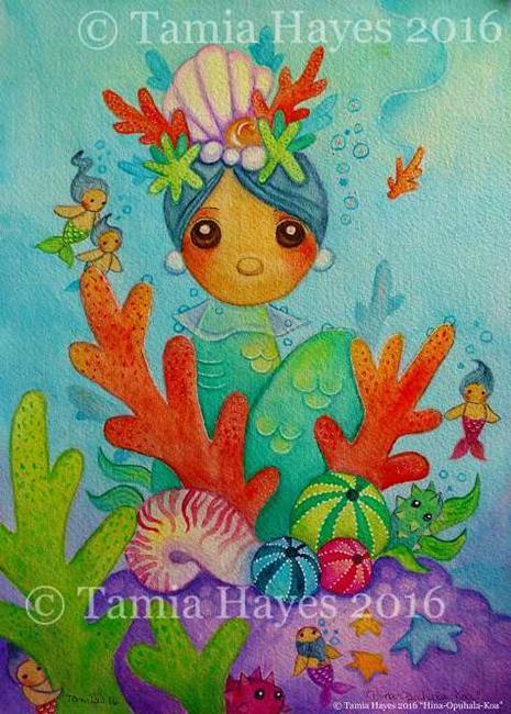 Art: Hina-Opuhala-Koa by Artist Tamia Hayes