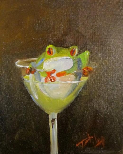 Art: Green Martini by Artist Delilah Smith