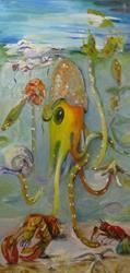 Art: Whimsical Octopus by Artist Delilah Smith