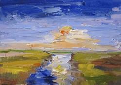Art: Marsh Sunset by Artist Delilah Smith