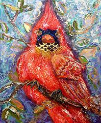 Art: Cardinal of Regal Disposition by Artist Alma Lee