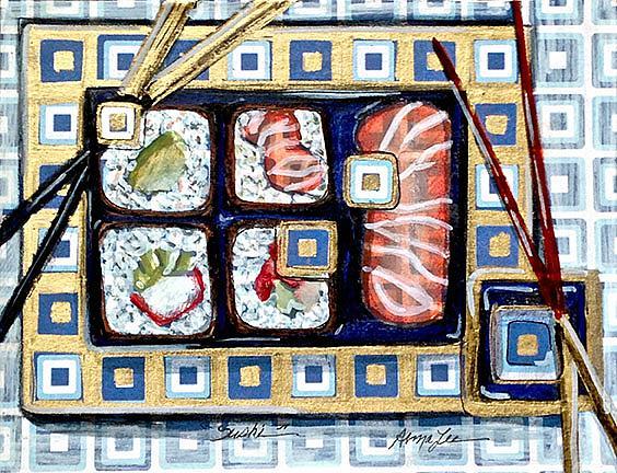 Art: sushi 1 by Artist Alma Lee