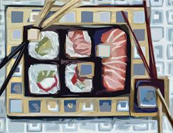 Art: sushi 2 by Artist Alma Lee