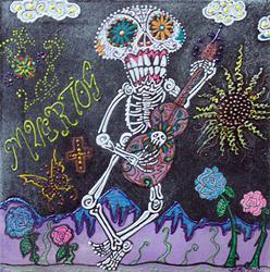 Art: Tune Of Los Muertos by Artist Laura Barbosa