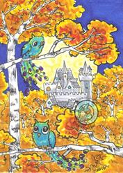 Art: Autumn Castle by Artist Emily J White