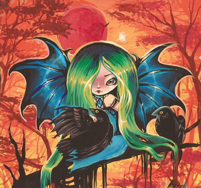 Art: A Ravens Love by Artist Nico Niemi