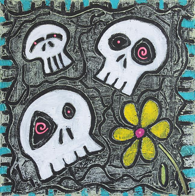 Art: Digging for Skulls by Artist Laura Barbosa