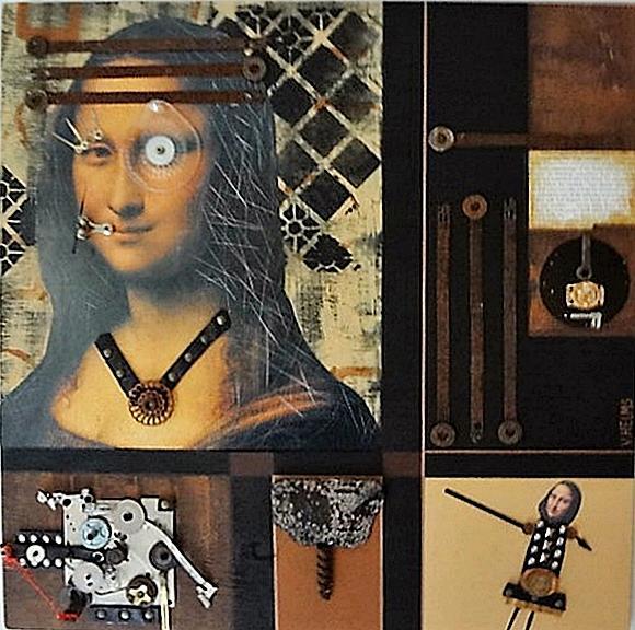 Art: (SOLD) Mona Lisa by Artist Vicky Helms