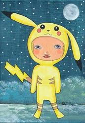 Art: Pokemon Fan Art - Pikachu Costume by Artist Sherry Key