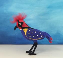 Art: Needle Felted Bird by Artist Ulrike 'Ricky' Martin