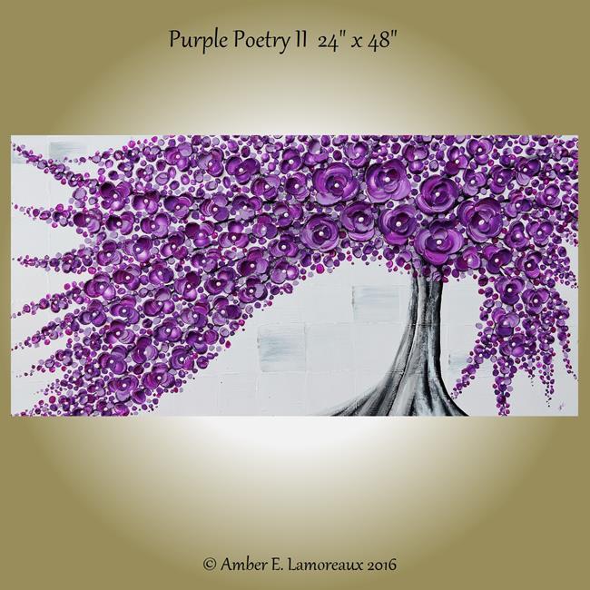 Art: Purple Poetry II (sold) by Artist Amber Elizabeth Lamoreaux