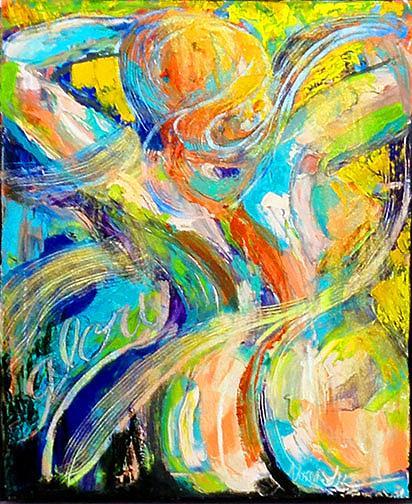 Art: She Cried Glory by Artist Alma Lee