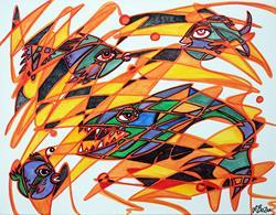 Art: Fishopoly by Artist Laura Barbosa