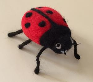 Detail Image for art Needle Felted Ladybug
