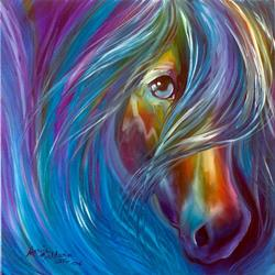 Art: DEVOTION EQUINE ABSTRACT by Artist Marcia Baldwin
