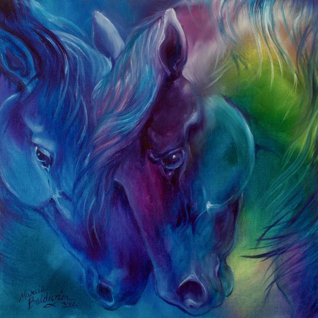 Art: THE NURTURER EQUINE ABSTRACT by Artist Marcia Baldwin