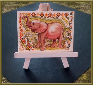 Detail Image for art Elephant Baby - ACEO