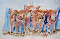 Art: Piggies by Artist Delilah Smith