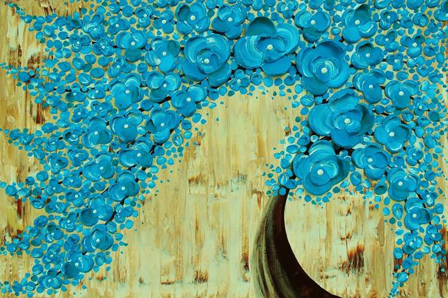 Art: The Water Blossom Tree V (sold) by Artist Amber Elizabeth Lamoreaux