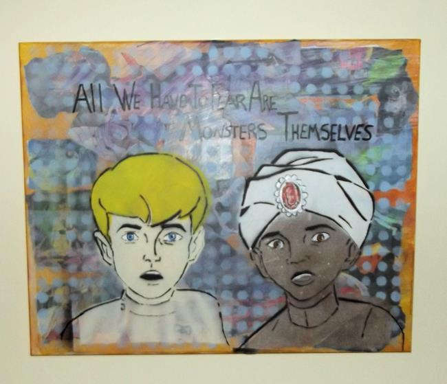 Art: Johny Quest and Hadji All We Have to Fear by Artist Paul Lake, Lucky Studios
