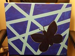 Art: Butterfly Silhouette by Artist Kat Sanders