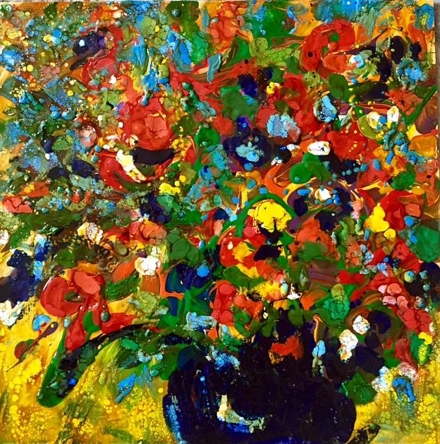 Encaustic Flower Bouquet - by Ulrike \'Ricky\' Martin from Paintings ...