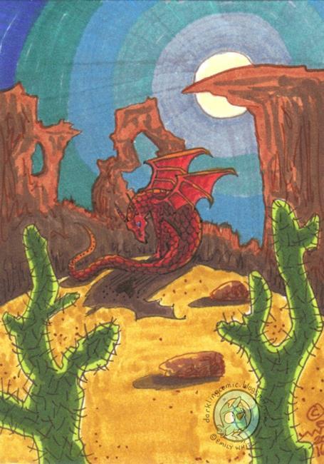 Art: Desert Moon by Artist Emily J White