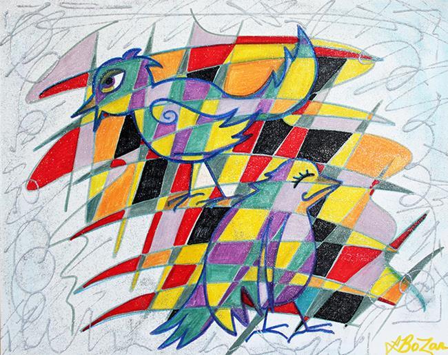 Art: Birdopoly by Artist Laura Barbosa
