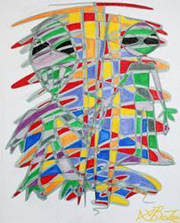 Art: Alienopoly by Artist Laura Barbosa