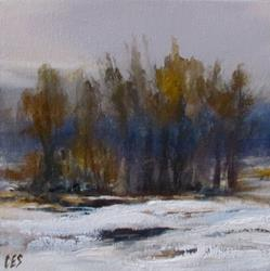 Art: Winter Trees by Artist Christine E. S. Code ~CES~