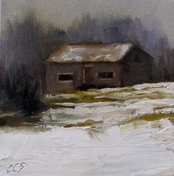Art: Old Farm Building by Artist Christine E. S. Code ~CES~