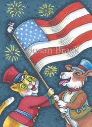Art: AMERICAN PRIDE by Artist Susan Brack
