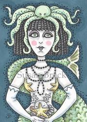 Art: GOTH CLEOPATRA MERMAID by Artist Susan Brack