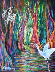 Art: Rainbow Eucalyptus Trees SD by Artist Ke Robinson