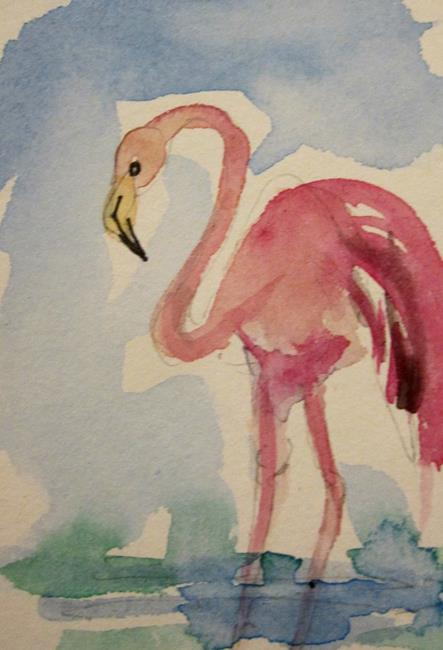 Art: Flamingo 3 by Artist Delilah Smith
