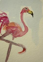 Art: Flamingo 5 by Artist Delilah Smith