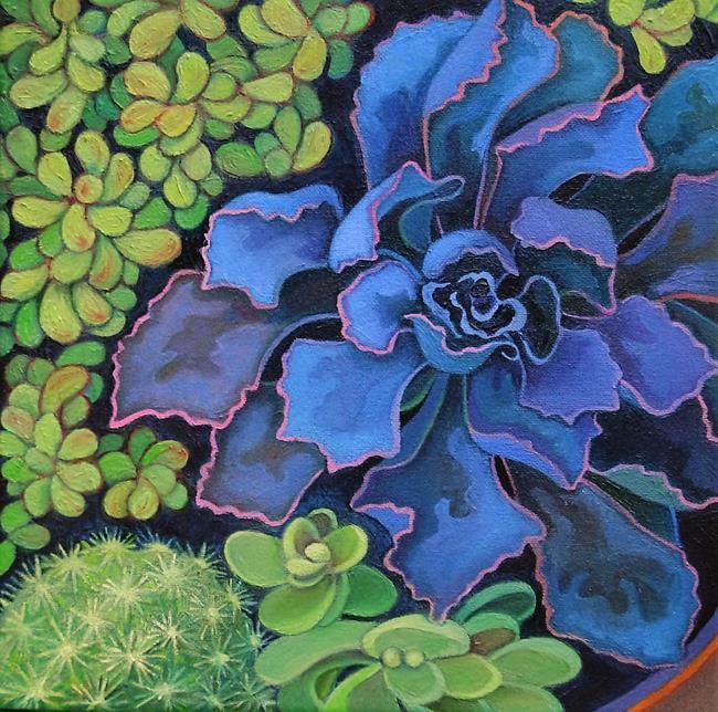 Art: Succulents by Artist Elizabeth Fiedel