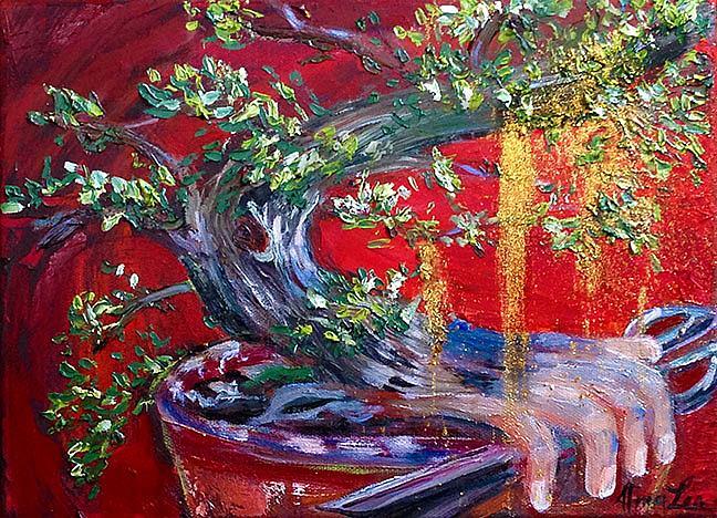 Art: Bonsai Magic Money Tree by Artist Alma Lee
