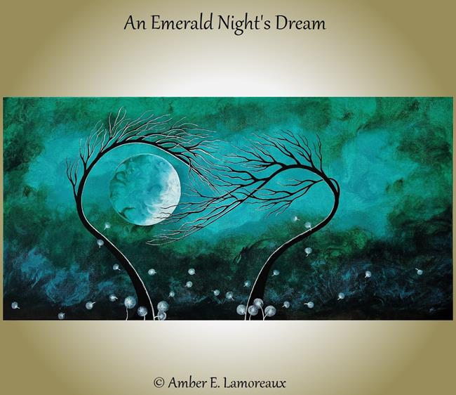 Art: An Emerald Night's Dream (sold) by Artist Amber Elizabeth Lamoreaux