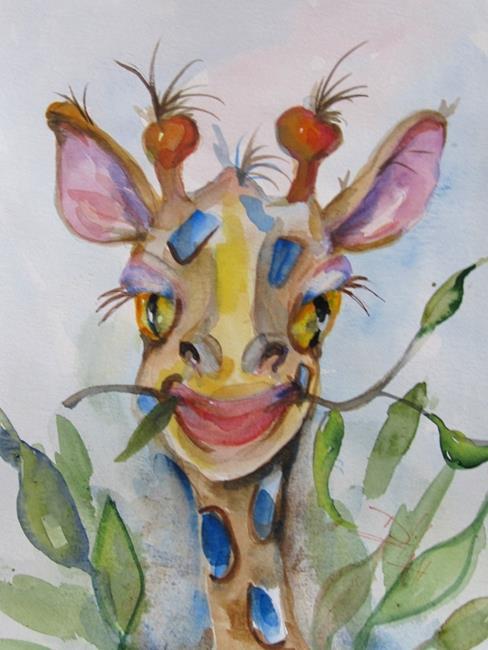 Art: Giraffe by Artist Delilah Smith