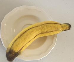 Art: Needle Felted Banana by Artist Ulrike 'Ricky' Martin