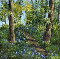Art: Bluebell Woods 2 by Artist Janet M Graham