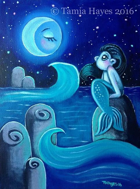 Art: Moonlight Beauty by Artist Tamia Hayes