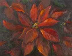 Art: Poinsettia by Artist Delilah Smith
