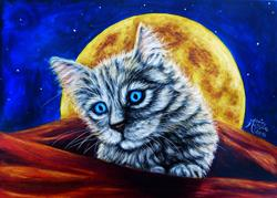 Art: All Tucked In  (SOLD) by Artist Monique Morin Matson
