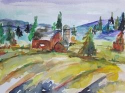 Art: Old Barn by Artist Delilah Smith