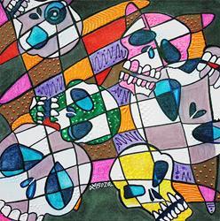 Art: Skullopoly by Artist Laura Barbosa
