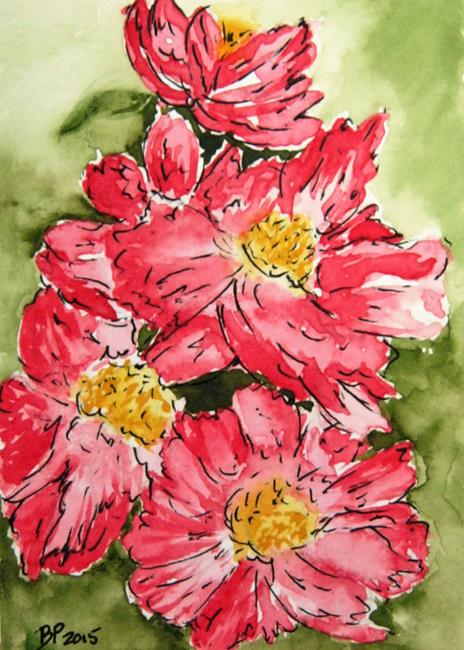 Art: Pink Poppies-sold by Artist Bonnie Pankhurst